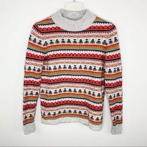 J. Crew Colorful Fair Isle Crew Neck Sweater E415